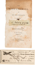 Autographs:Authors, James Fenimore Cooper Check Signed and Clipped Signature, ...