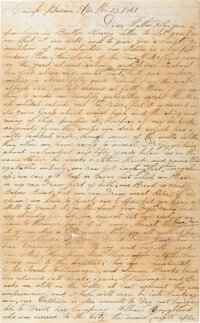 J. C. Williams Autograph Letter Signed with 7th South Carolina Infantry Content