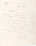 Autographs:U.S. Presidents, Grover Cleveland Autograph Letter Signed. One pag...