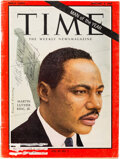 Autographs, Martin Luther King Jr. Time Magazine Cover Signed. ...