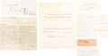 Autographs:U.S. Presidents, Group of Seven Documents Signed by 19th Century Presidents...
