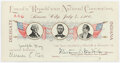 Political:Small Paper (1896-present), William Jennings Bryan: 1900 Silver Republican Convention Ticket....