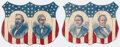 Political:Small Paper (pre-1896), Hayes & Wheeler and Tilden & Hendricks: Jugate Cutout Paper Shields.... (Total: 2 Items)