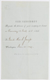 James Polk: Presidential Dinner Invitation