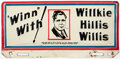 Political:3D & Other Display (1896-present), Wendell Willkie: License Plate. ...