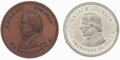 Political:Tokens & Medals, Andrew Johnson: Pair of Medals.... (Total: 2 Items)