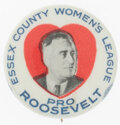 Political:Pinback Buttons (1896-present), Franklin D. Roosevelt: Scarce New Jersey Picture Pin....