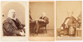Political:Small Paper (pre-1896), Horatio Seymour and Horace Greeley: Cabinet Cards....