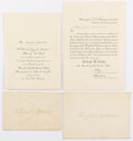 Political:Memorial (1800-present), William McKinley: Pan American Exposition Banquet Invitation and More.... (Total: 2 Items)