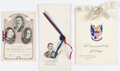 Political:Small Paper (1896-present), Theodore Roosevelt and William Howard Taft: Presidential Menu Grouping....