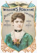 Political:Small Paper (pre-1896), [Grover Cleveland]: Frances Cleveland Die Cut. ...