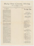 Political:Small Paper (pre-1896), James B. Weaver: 1892 People's Party Donation Handbill....