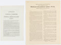 Political:Small Paper (pre-1896), [James Weaver and Benjamin F. Butler]: Pair of Off-Year Greenback Labor Party Imprints.... (Total: 2 Items)