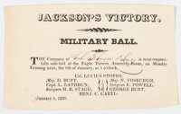 Andrew Jackson: Battle of New Orleans Military Ball Invitation