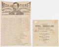 Political:Small Paper (pre-1896), James B. Weaver: Two National Greenback Labor Party Ballots.... (Total: 2 Items)