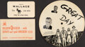 Political:Small Paper (1896-present), Henry A. Wallace at al: Three Pieces of Ephemera....
