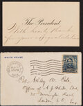 Political:Small Paper (1896-present), Theodore Roosevelt: Post-Election Presidential Calling Card.... (Total: 2 Items)