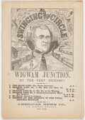 Political:Small Paper (pre-1896), Andrew Johnson: Satirical 1866 Cartoon Booklet....