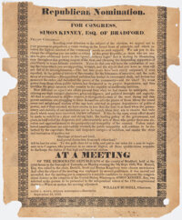 [Jacksonian Era]: Pennsylvania Congressional Broadside