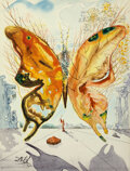 Works on Paper, Salvador Dali (1904-1989) Venus Butterfly