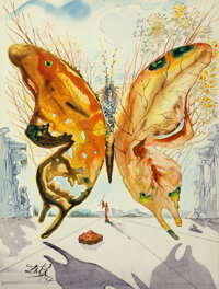 Salvador Dali (1904-1989) Venus Butterfly, 1947 Gouache, watercolor, India ink, pencil and collage on card 12-5/8 x 9
