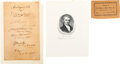 Autographs:Statesmen, John Marshall Supreme Court Document Signed by Five Members and Henry Clay. ...