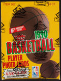Basketball Cards:Unopened Packs/Display Boxes, 1990-91 Fleer Basketball Unopened Rack Pack Box. ...
