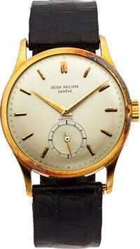 Patek Philippe, An Extremely Fine Large 18k Gold Calatrava, Co-Signed Trucchi, Ref. 570, circa 1955