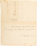 Autographs:U.S. Presidents, Dolley Madison Autograph Note Signed. ...