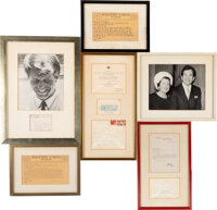 Trini Lopez Correspondence From Ted, Robert, and Ethel Kennedy With White House Invitation