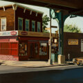 Paintings, John Register (American, 1939-1996). Jamaica Avenue, 1980. Oil on canvas. 50 x 50 inches (127 x 127 cm). Signed lower ri...