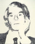 Photographs, Vik Muniz (b. 1961). Andy Warhol from Pictures of Ink, 2000. Dye bleach. 40-1/2 x 32-1/2 inches (102.9 x 82.6 cm). F...