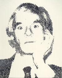 Vik Muniz (b. 1961) Andy Warhol from Pictures of Ink, 2000 Dye bleach 40-1/2 x 32-1/2