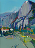 Paintings, Gregory Kondos (1923-2021). Mount Olympus, 2006. Oil on canvas. 48 x 36 inches (121.9 x 91.4 cm). Signed and dated lower...