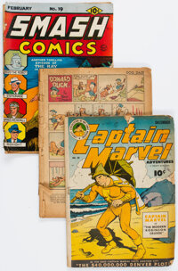 Golden Age Comics Group of 6 (Various Publishers, 1940s-50s) Condition: Average PR.... (Total: 6 Comic Books)