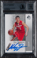 Autographs:Sports Cards, Signed 2011-12 SP Authentic Klay Thompson #23 Beckett Authentic....