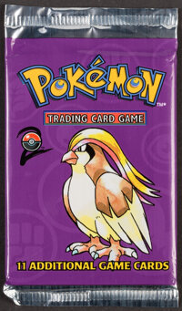 Pokémon Unlimited Pidgeot Base Set 2 Sealed Booster Pack (Wizards of the Coast, 2000)