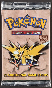 Pokémon Unlimited Zapdos Fossil Set Sealed Booster Pack (Wizards of the Coast, 1999)