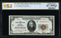 Small Size:Federal Reserve Bank Notes, Fr. 1870-A $20 1929 Federal Reserve Bank Note. PCGS Banknote Superb Gem Unc 67 PPQ.. ...