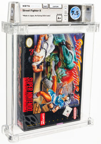 Street Fighter II - Wata 7.5 A+ Sealed [Made in Japan], SNES Capcom 1992 USA