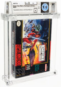 Video Games:Nintendo, Super Star Wars: The Empire Strikes Back - Wata 9.0 A+ Sealed, [Assembled in Mexico], SNES THQ 1997 USA. ...