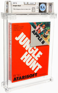 Jungle Hunt - Wata 9.4 A++ Sealed [1983 Orange box], Apple II Atarisoft 1983 USA