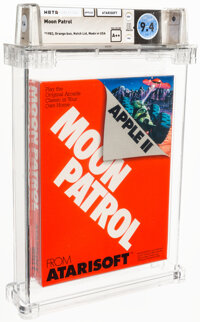Moon Patrol - Wata 9.4 A++ Sealed [1983 Orange box], Apple II Atarisoft 1983 USA