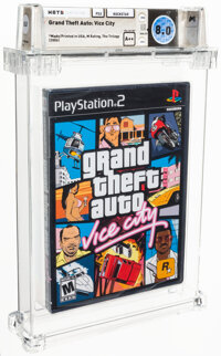 """Grand Theft Auto: Vice City - Wata 8.0 A++ Sealed [""""Trilogy"""" Release, Later Production], PS2 Rockstar 2002 USA..."""