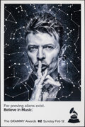 """Movie Posters:Rock and Roll, 59th Annual Grammy Awards: David Bowie (CBS, 2017). Rolled, Very Fine. New York Bus Shelter (48"""" X 72"""") SS Advance. Rock and..."""
