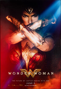 """Wonder Woman (Warner Bros., 2017). Rolled, Very Fine. Bus Shelter (48"""" X 70"""") SS Advance. Action"""