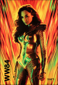"""Wonder Woman 1984 (Warner Bros., 2020). Rolled, Very Fine/Near Mint. Bus Shelter (48"""" X 70"""") SS Advance. Actio..."""