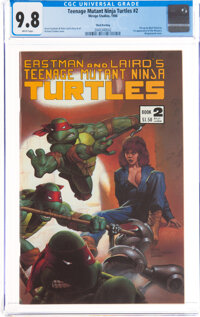 Teenage Mutant Ninja Turtles #2 Third Printing (Mirage Studios, 1985) CGC NM/MT 9.8 White pages