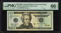 Small Size:Federal Reserve Notes, Low Serial Number 34 Fr. 2089-B $20 2004 Federal Reserve Note. PMG Gem Uncirculated 66 EPQ.. ...