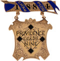 """Baseball Collectibles:Others, 1884 Providence Grays World Championship Pin Presented to Infielder Charley Bassett--First """"World Series"""" Ever!..."""